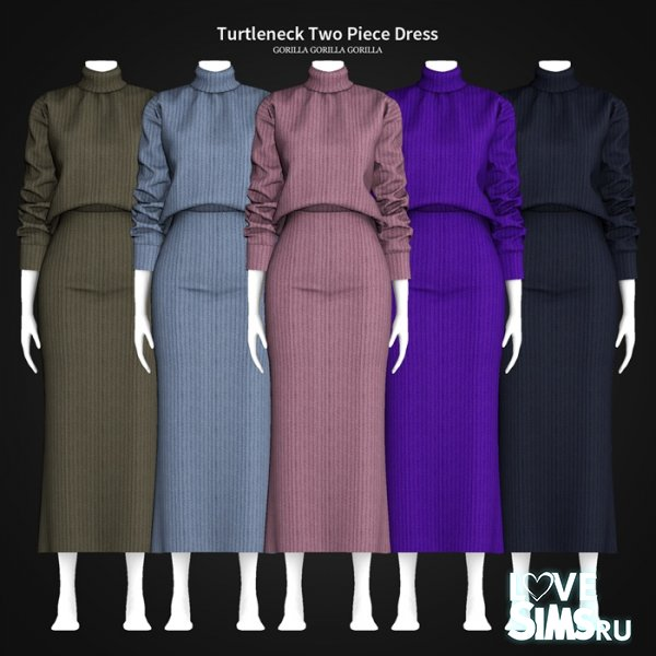 Платье Turtleneck Two Piece Dress