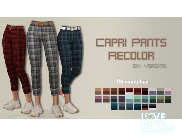 Капри Pants recolor от Ysasims