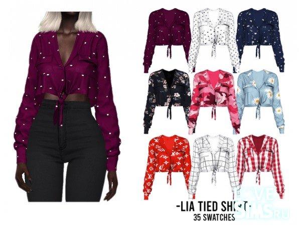 Рубашка Lia Tied Shirt