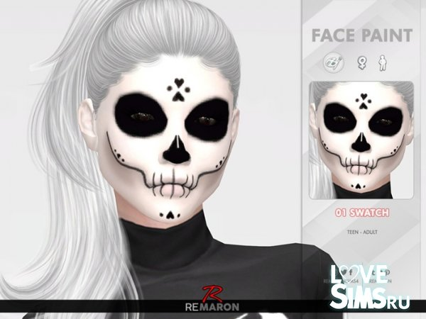 Макияж Halloween Skull Face Paint 01