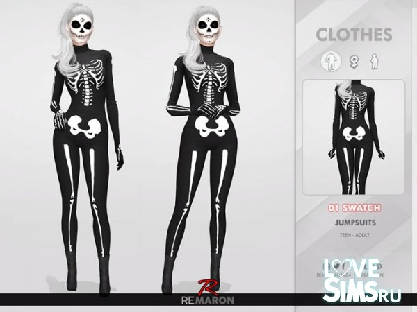 Костюм Halloween Skull Costume 01