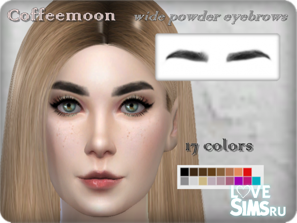 Wide powder eyebrows by Coffeemoon