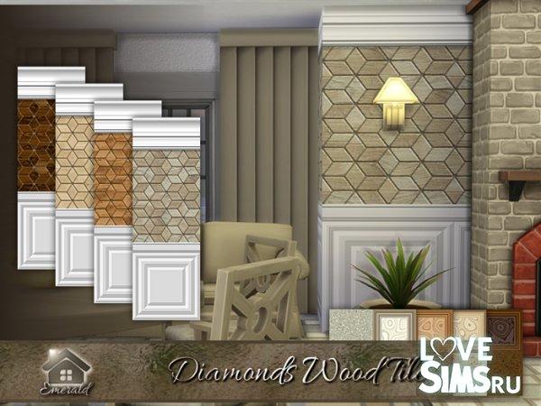 Плитка Diamonds Wood Tile