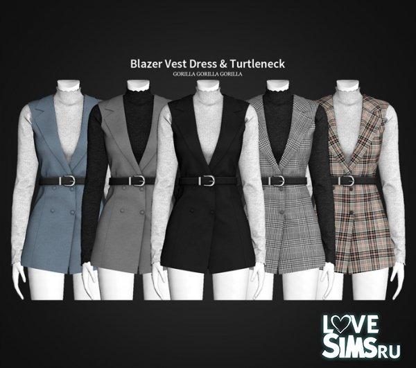 Блейзер Blazer Vest Dress & Turtleneck