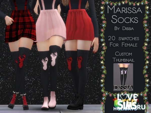 Чулки Holiday Wonderland - Marissa Socks