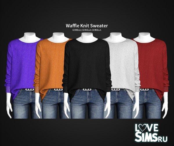 Свитер Waffle Knit Sweater