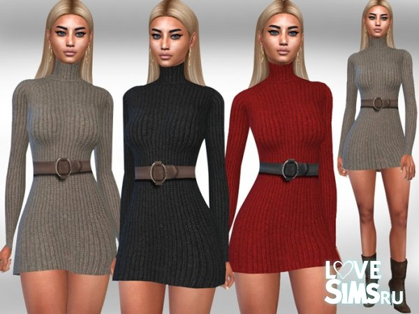 Платье Long Sleeve Winter Dress