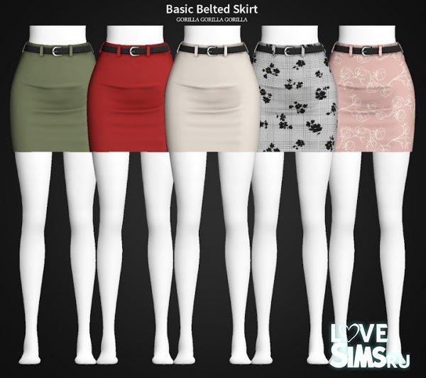 Юбка Basic Belted Skirt