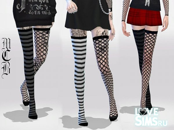 Носки Long Over Knee Stripe
