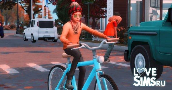 Дети могут кататься на велосипеде