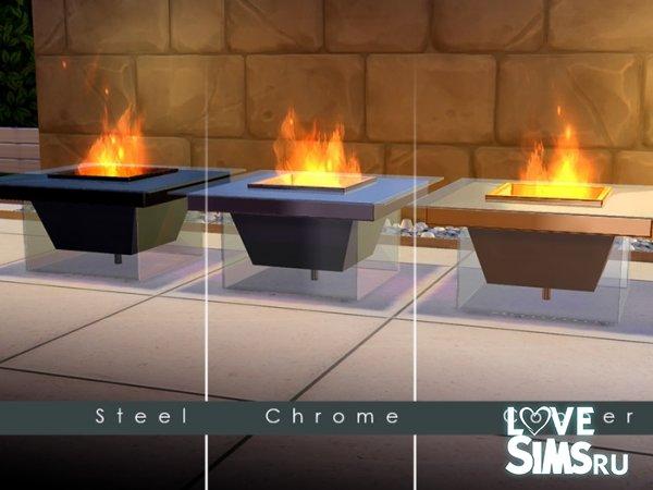 Камин Modern Glass Fire Pit